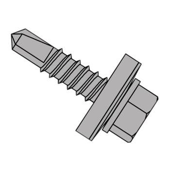 ForgeFix TechFast Self-Drilling Stitching Hex Screw & Washer No.1 Tip 6.3 x 25mm Box 100 - FORTFHWD6325