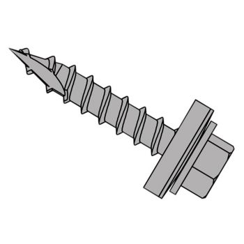 ForgeFix TechFast Metal Roofing to Timber Hex Screw T17 Gash Point 6.3 x 60mm Box 100 - FORTFHWP6360