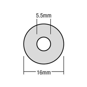 ForgeFix TechFast Bonded EPDM Washer 5.5 x 16mm Box 100 - FORTFW1655