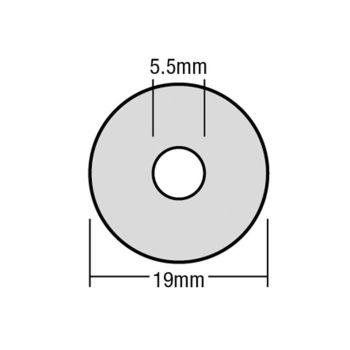 ForgeFix TechFast Bonded EPDM Washer 5.5 x 19mm Box 100 - FORTFW1955