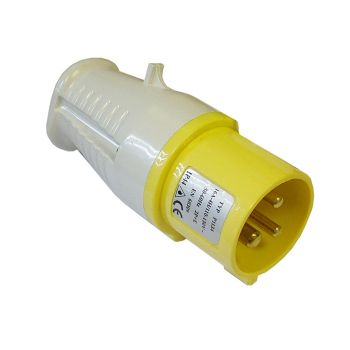Faithfull Yellow Plug 16 Amp 110 Volt - FPPPLUG110