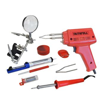 Faithfull SGKP Soldering Gun 100 Watt & Iron Kit 30 Watt 240 Volt - FPPSGKP