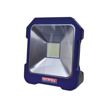 Faithfull SMD LED Task Light with Power Take Off 20W 240V - FPPSLTL20