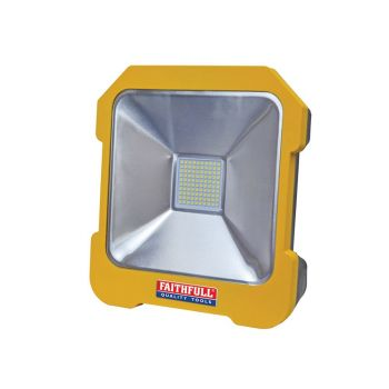Faithfull SMD LED Task Light with Power Take Off 20W 110V - FPPSLTL20L