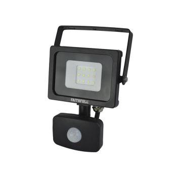 Faithfull SMD LED SecurityLightwith PIR 10W800 Lumen 240V - FPPSLWM10S