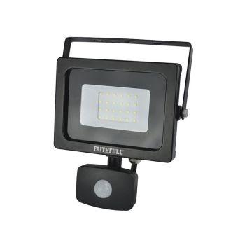 Faithfull SMD LED Security Light with PIR 20W 1600 Lumen 240V - FPPSLWM20S