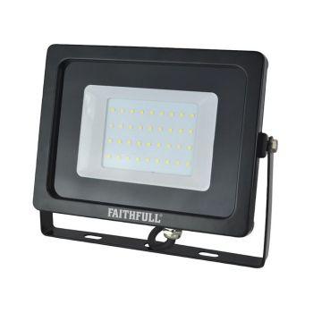 Faithfull SMD LED Wall Mounted Floodlight 30W 2400 Lumens 240V - FPPSLWM30