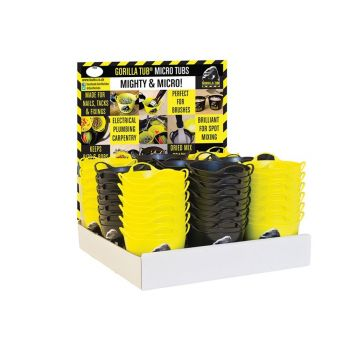 Red Gorilla Yellow/Black Micro Tub Display 108 Piece - GORYBMTDISP