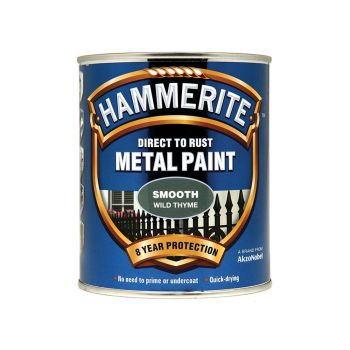 Hammerite Direct to Rust Smooth Finish Metal Paint Wild Thyme 750ml - HMMSFWT750