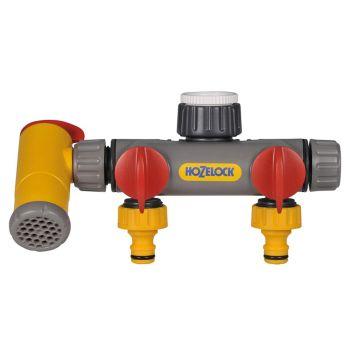Hozelock Flowmax 3-Way Tap Connector 1/2 - 1in BSP - HOZ2250