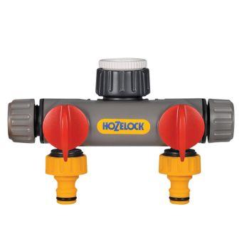Hozelock 2-Way Tap Connector 1/2 - 1in BSP - HOZ2252