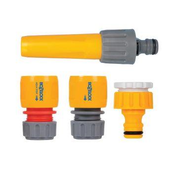 Hozelock Hose Nozzle & Threaded Tap Starter Set - HOZ2352