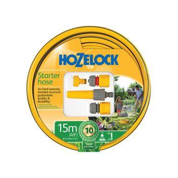 Hozelock Starter Hose Starter Set 15m 12.5mm (1/2in) Diameter - HOZ72159000