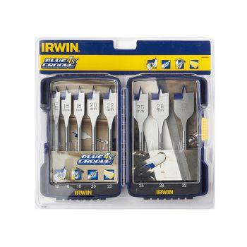 IRWIN Blue Groove 4X Wood Flat Bit Set 8 Piece 12-32mm - IRW10506629
