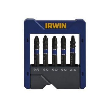 IRWIN Impact Screwdriver Pocket Bit Set of 5 Pozi/Phillips/Torx - IRW1923433