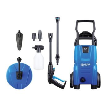 Kew Nilfisk Alto C110.7-5 PCA X-TRA Pressure Washer with Patio Cleaner & Brush 110 Bar 240V - KEWCOM110HG