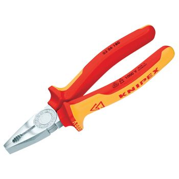 Knipex VDE Combination Pliers 180mm - KPX0306180