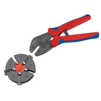 Knipex Multicrimp Pliers Set - 3 Quick Change Cartridges - KPX973301