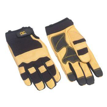 Kuny's Hybrid-275 Top Grain Leather Neoprene Cuff Gloves - Large (Size 10) - KUN275L
