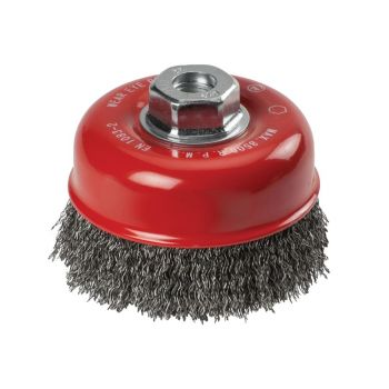 KWB Crimped Steel Cup Brush 100mm x M14 - KWB719110