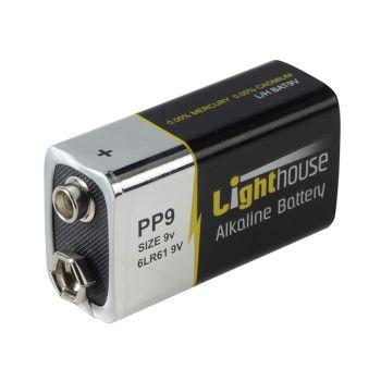 Lighthouse Alkaline Batteries 9V LR61 1100mAh Pack of 1 - L/HBAT9V