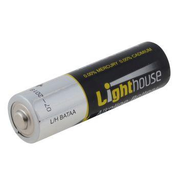 Lighthouse Alkaline Batteries AA LR6 2400mAh Pack of 4 - L/HBATAA