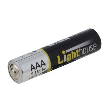 Lighthouse Alkaline Batteries AAA LR03 1120mAh Pack of 4 - L/HBATAAA