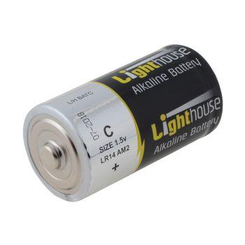 Lighthouse Alkaline Batteries C LR14 6200mAh Pack of 2 - L/HBATC