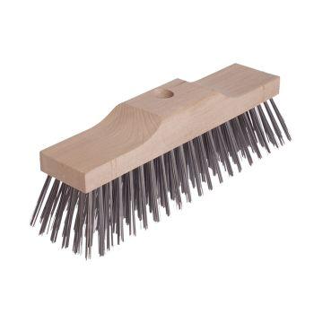 Lessmann Broom Head Raised Wooden Stock 6 Row 300mm x 70mm - LES146201