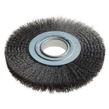 Lessmann Wheel Brush D200mm x W24-27 x 50 Bore Set 3 Steel Wire 0.30 - LES365172