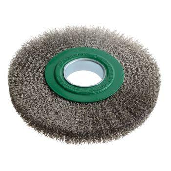 Lessmann Wheel Brush D200mm x W24-27 x 50 Bore Stainless Steel Wire 0.30 - LES365362