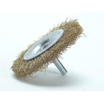 Lessmann DIY Wheel Brush 75 x 10mm 0.25 Brass Wire - LES41013607