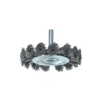 Lessmann Knotted Wheel Brush with Shank 75 x 8mm 0.50 Steel Wire - LES41719807