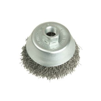 Lessmann Cup Brush 150mm 5/8 BSW x 0.35 Steel Wire - LES429178