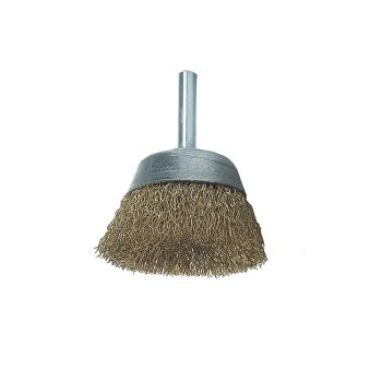 Lessmann DIY Cup Brush with Shank 50mm x 0.25 Brass Wire - LES43012607