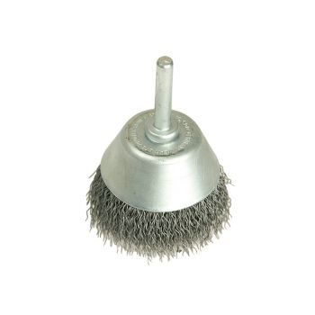 Lessmann Cup Brush with Shank D70mm x 25h x 0.30 Steel Wire - LES437162