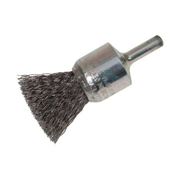 Lessmann End Brush with Shank 23/22 x 25mm 0.30 Steel Wire - LES453161
