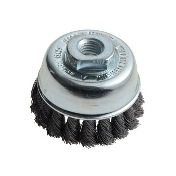 Lessmann Knot Cup Brush 65mm M14 x 0.35 Steel Wire - LES482117