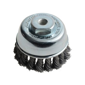 Lessmann Knot Cup Brush 65mm M10 x 0.50 Steel Wire LES482213 - LES482213
