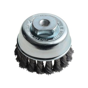 Lessmann Knot Cup Brush 65mm M10 x 0.50 Steel Wire LES482214 - LES482214