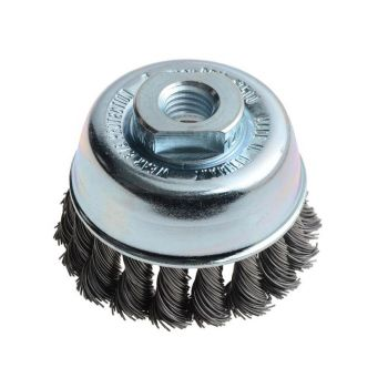 Lessmann Knot Cup Brush 65mm M14 x 0.50 Steel Wire - LES482217