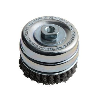Lessmann Knot Cup Brush 100mm M14 x 0.50 Steel Wire* - LES486217