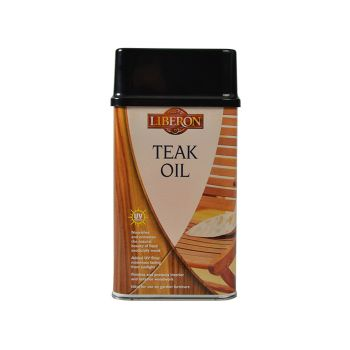 Liberon Teak Oil with UV Filters 500ml - LIBTOUV500