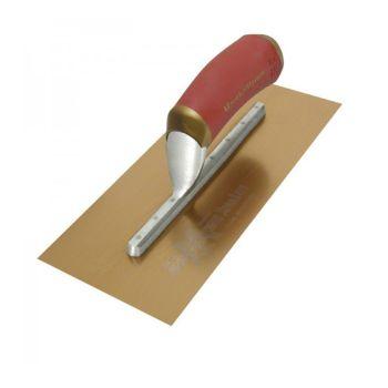 """Marshalltown Duraflex Trowel Golden Stainless Steel 7 3/4"""" Mounting 12"""" x 5"""" - DuraSoft Handle - M4467DFD"""