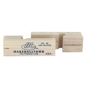 "Marshalltown 3 3/4"" Wood Line Blocks (Pair) - M86"