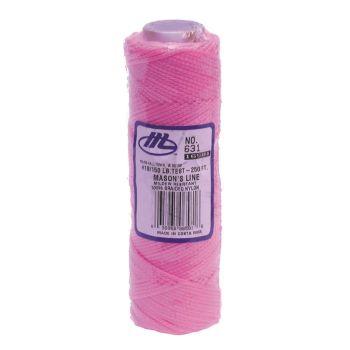 "Marshalltown Braided Nylon Mason's Line 250' Fl. Pink, Size 18 6"" Core - M631"