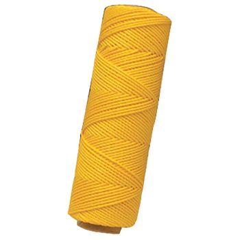 "Marshalltown Twisted Nylon Mason's Line 285' Yellow, Size 18 6"" Core - M621"