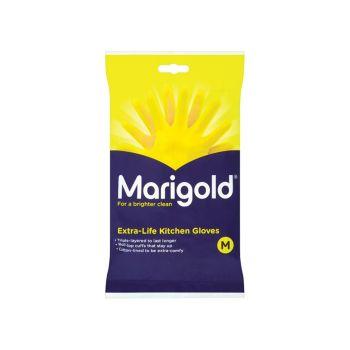 Marigold Extra-Life Kitchen Rubber Gloves - Medium (6 Pairs) - MGD145407