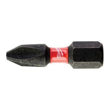 Milwaukee SHOCKWAVE Impact Duty Bits PH2 25mm (Pack 25) - MIL430853