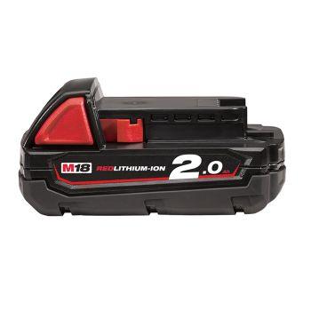 Milwaukee M18 B2 REDLITHIUM-ION Slide Battery Pack 18V 2.0Ah Li-Ion - MILM18B2